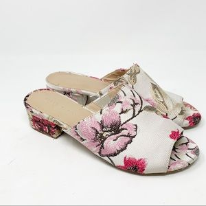 KELLY & KATIE Brocade AMOUR Slide Sandal Shoes
